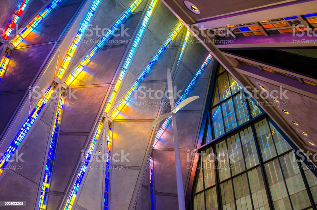 Air Force Academy Chapel, Colorado Springs stock photo