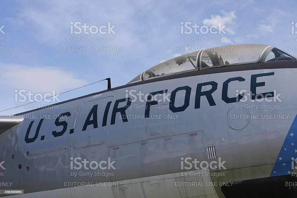U.S. Air Force Cockpit royalty-free stock photo