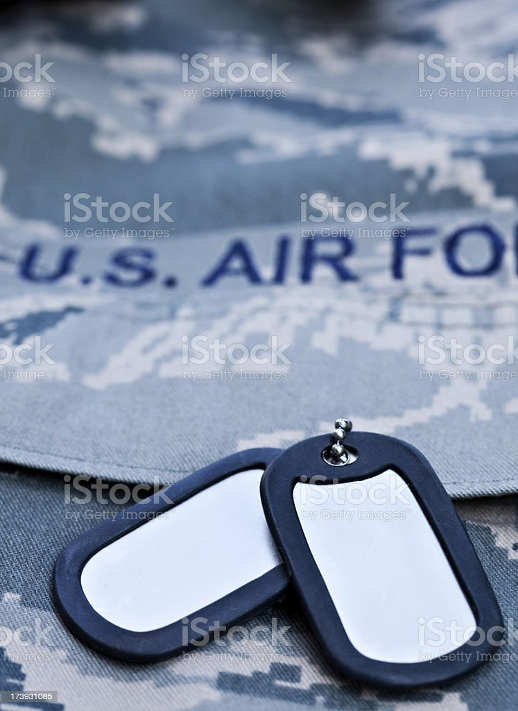 Air Force Dog Tags stock photo