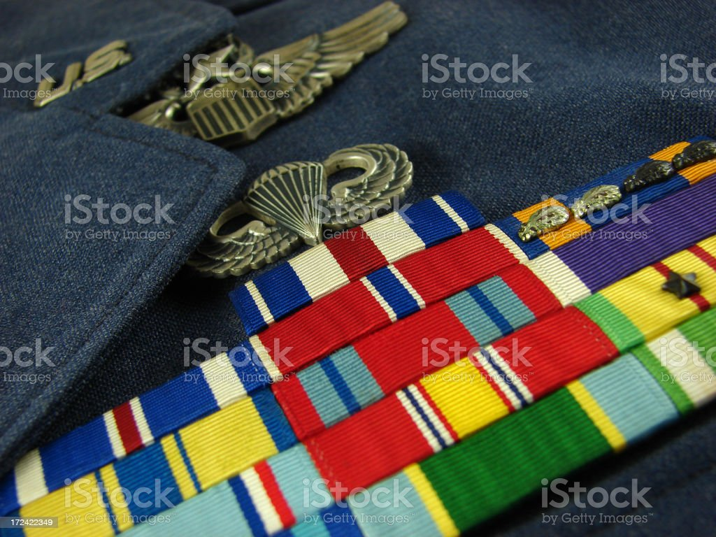 Air Force Dress Uniform stock photo