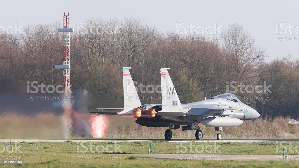 US Air Force F-15 Eagle stock photo