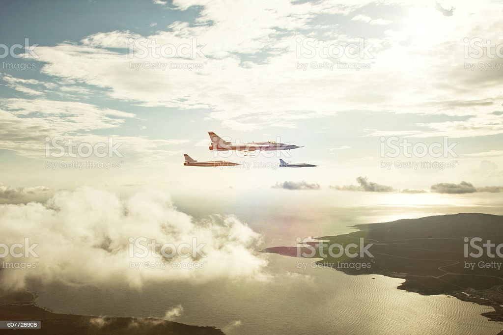 air force fighters stock photo