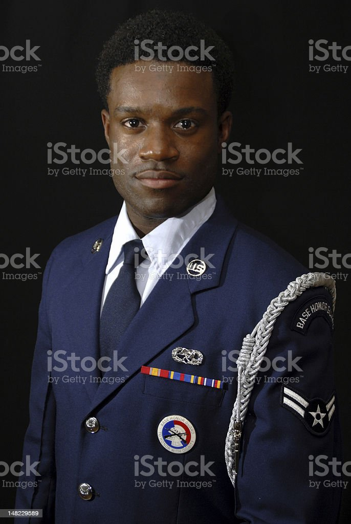 Air Force Man royalty-free stock photo