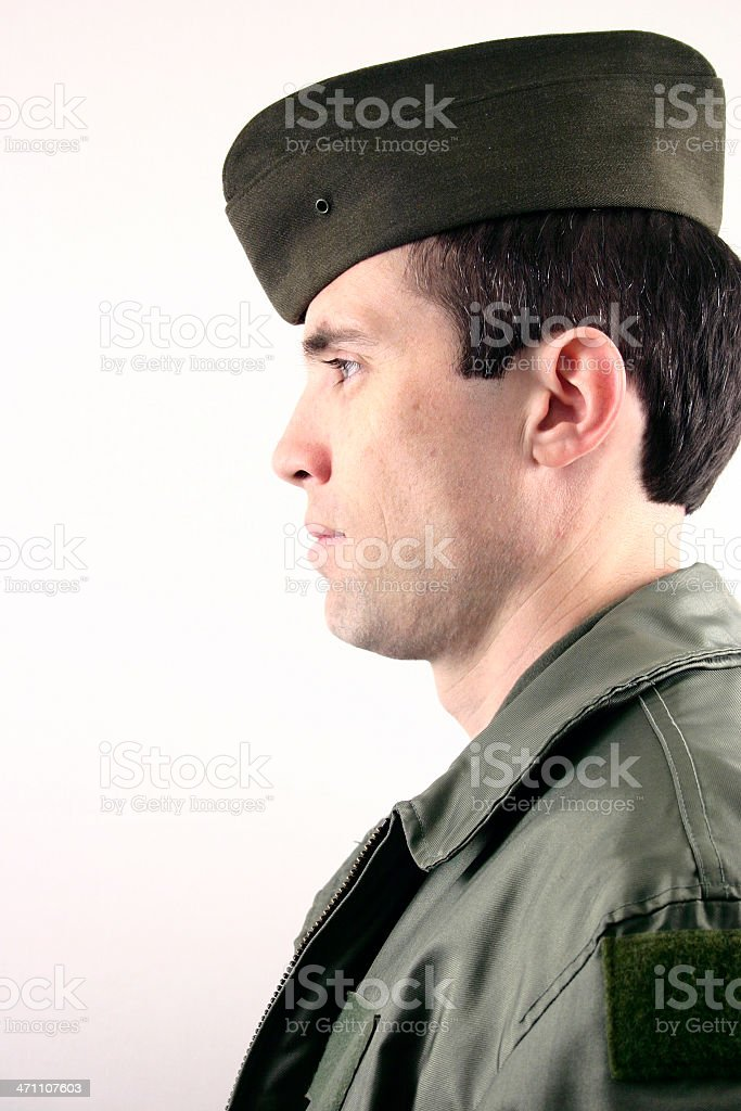 Air Force man  stock photo