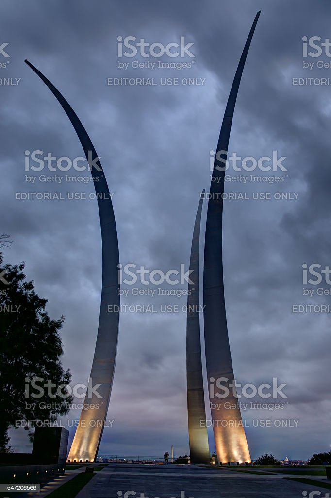 Air Force Memorial in Arlington Virginia stock photo