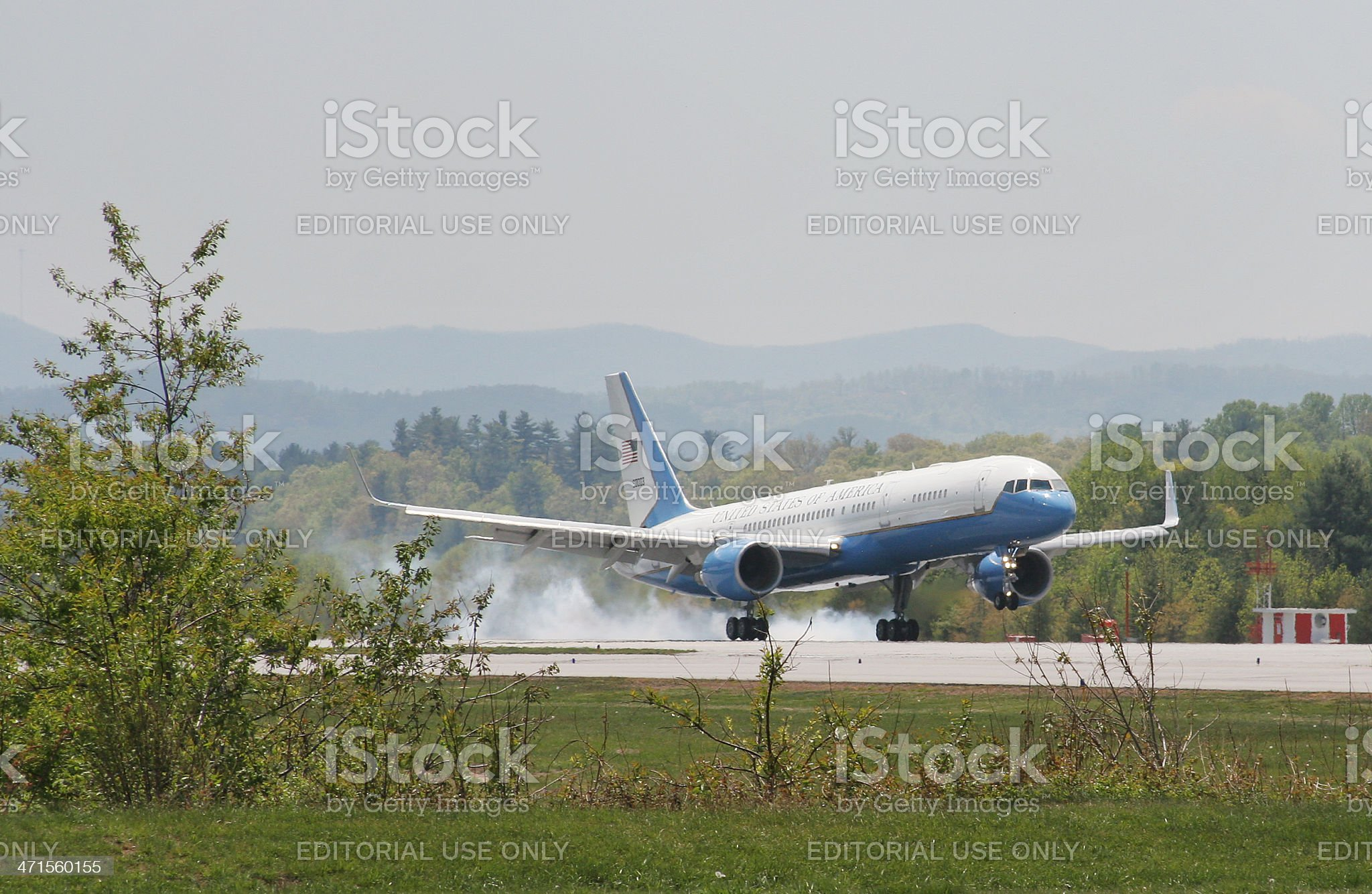 Air Force One Landing royalty-free stock photo