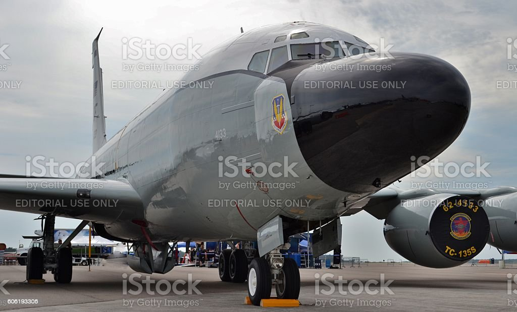 Air Force RC-135 Surveillance Plane stock photo