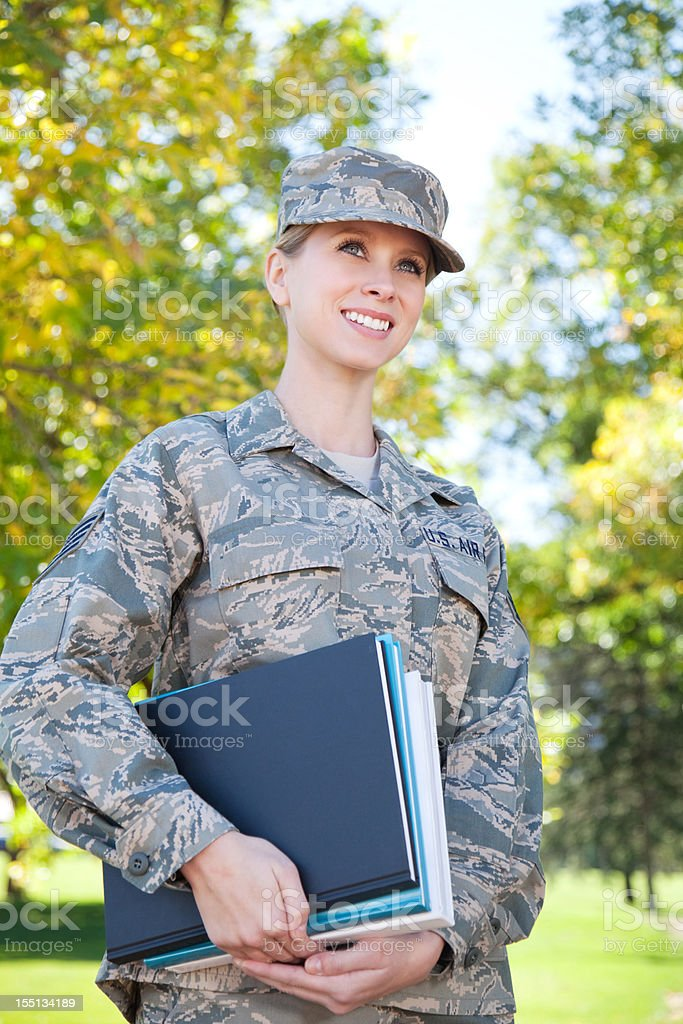 US Air Force Series: American Airwoman Outdoor royalty-free stock photo