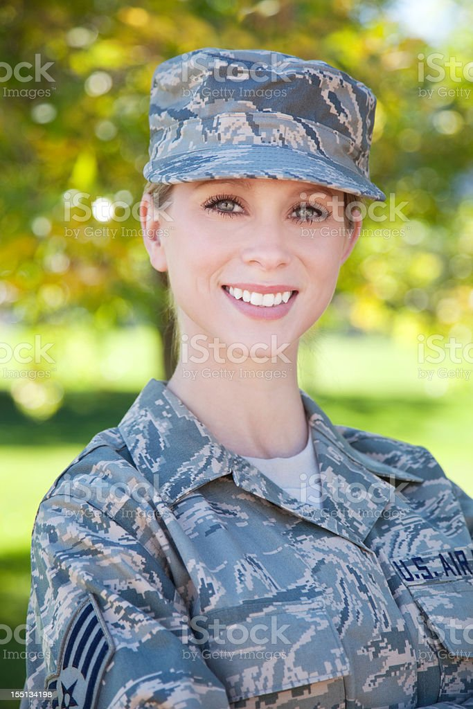 US Air Force Series: American Airwoman Outdoor stock photo