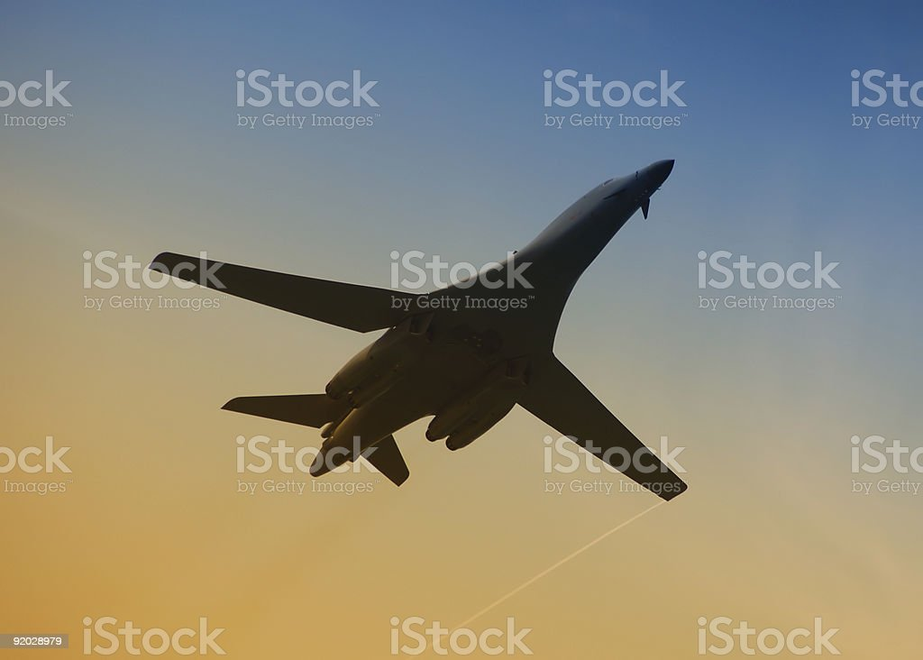 US Air Force strategic bomber royalty-free stock photo