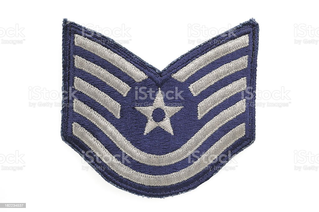 Air Force Technical Sergeant Patch royalty-free stock photo