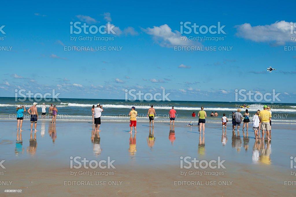 U.S. Air Force Thunderbirds at Daytona Beach, Florida stock photo