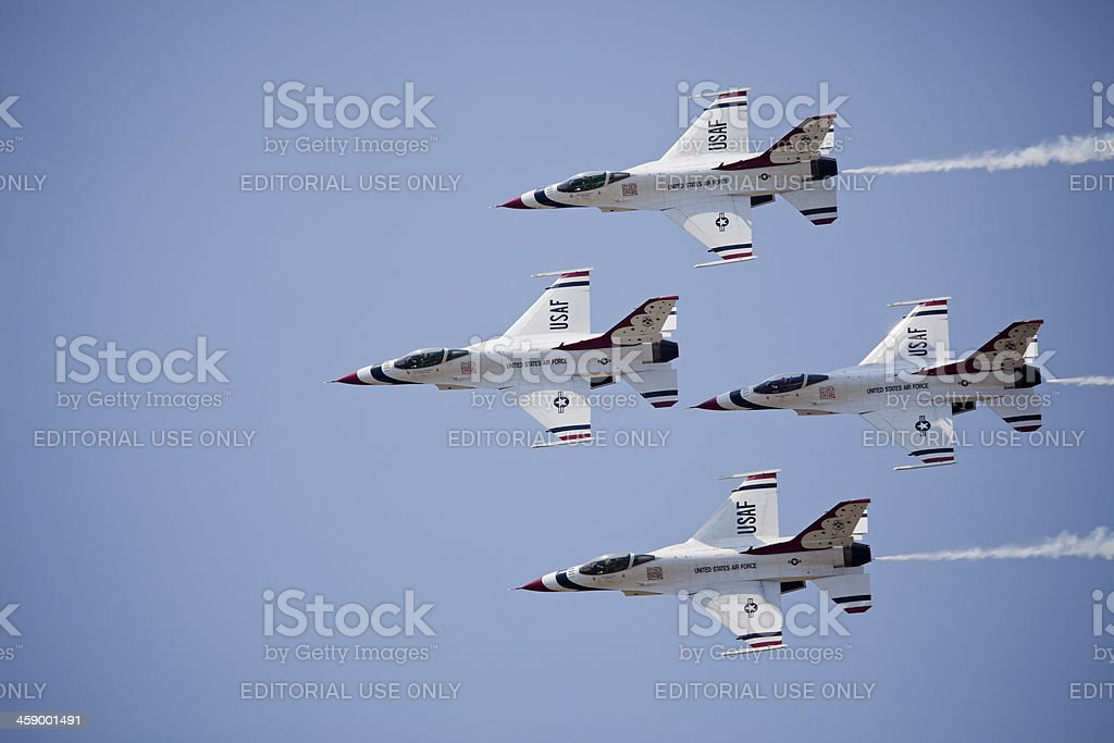 US Air Force Thunderbirds jets royalty-free stock photo