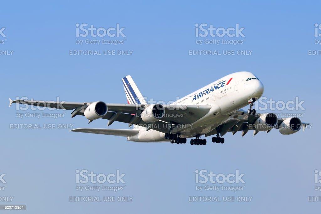 Air France A380 aircraft stock photo