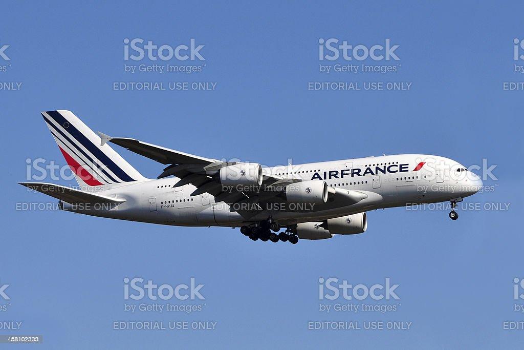Air France A380 stock photo