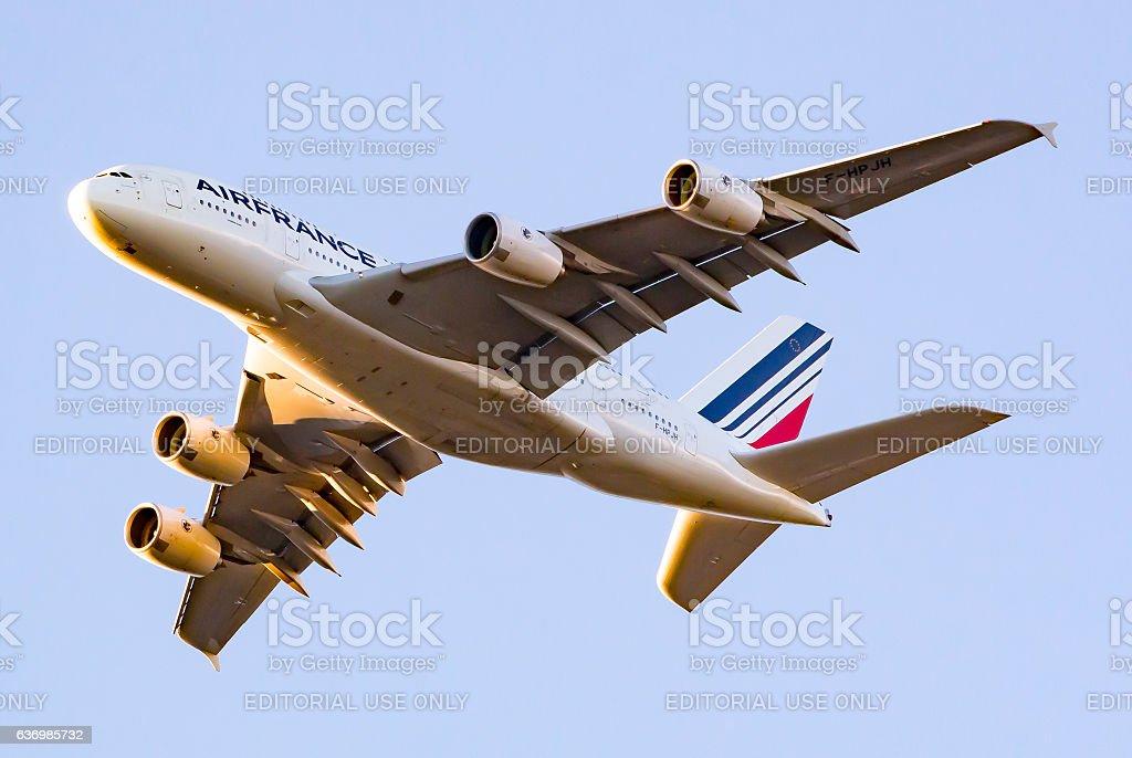 Air France Airbus 380 stock photo