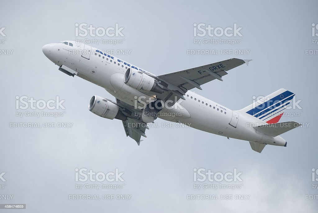 Air France Airbus A319 aircraft taking off stock photo