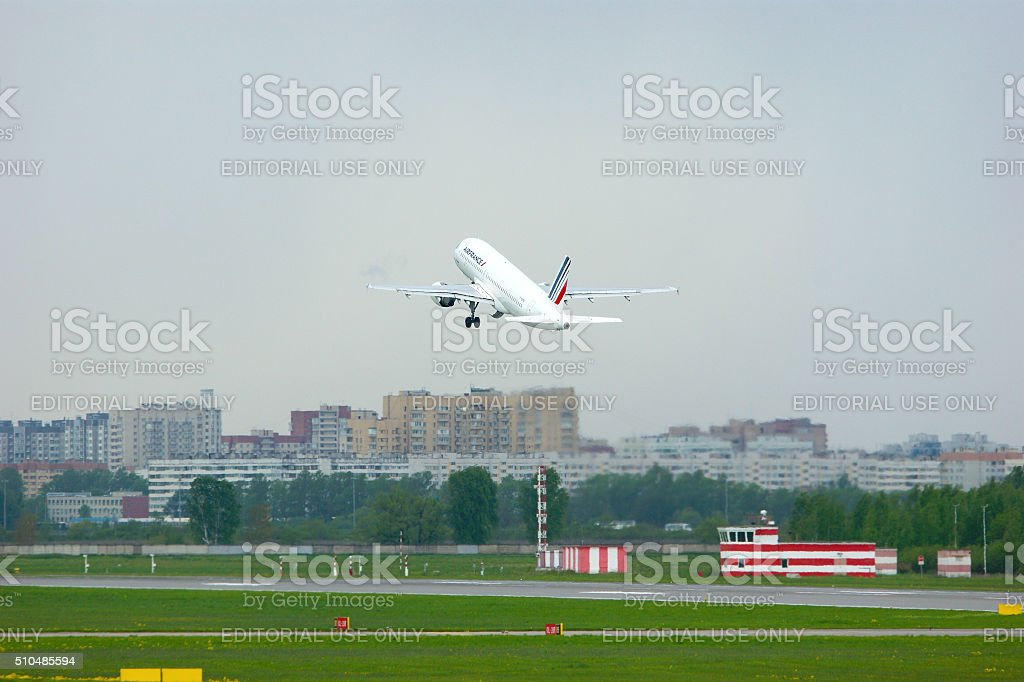 Air France Airlines Airbus A320-214 aircraft stock photo