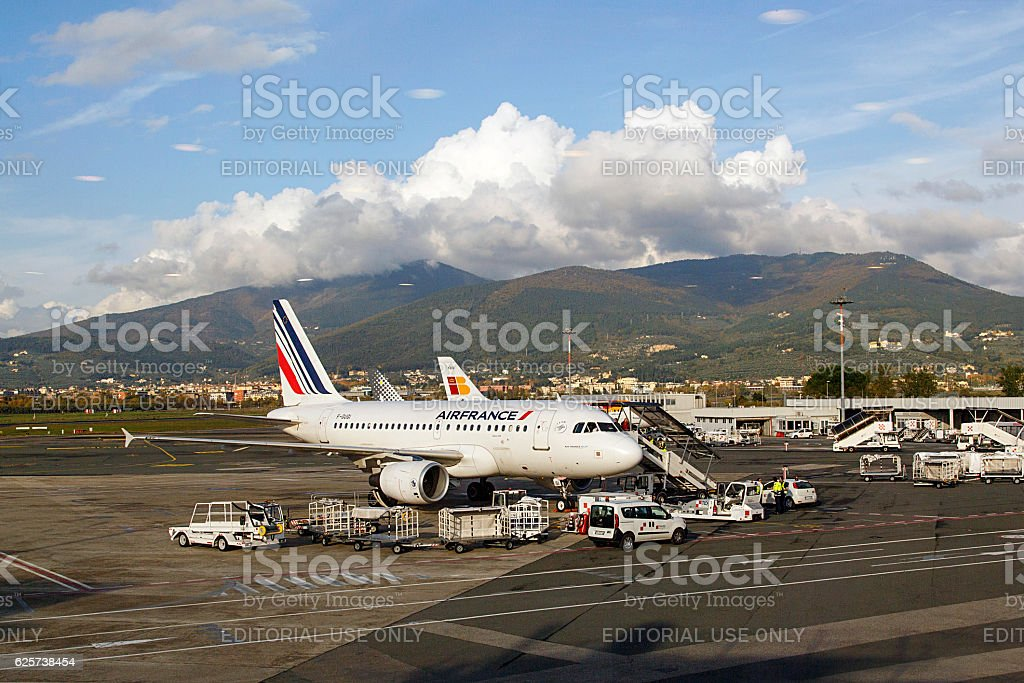 Air France at Florence Airport stock photo