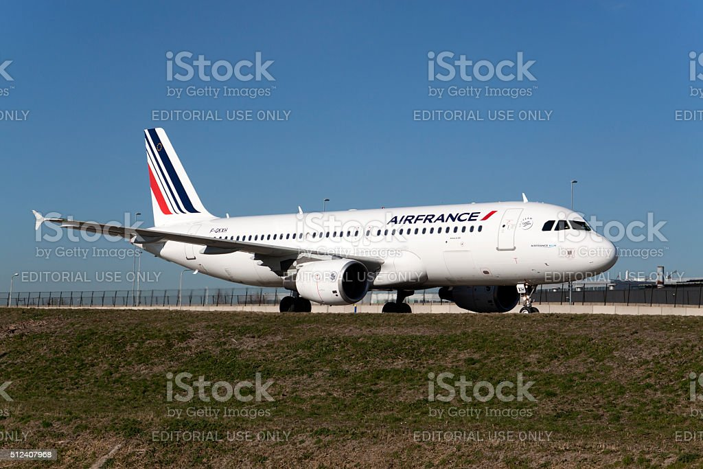 Air france boeing 737 stock photo