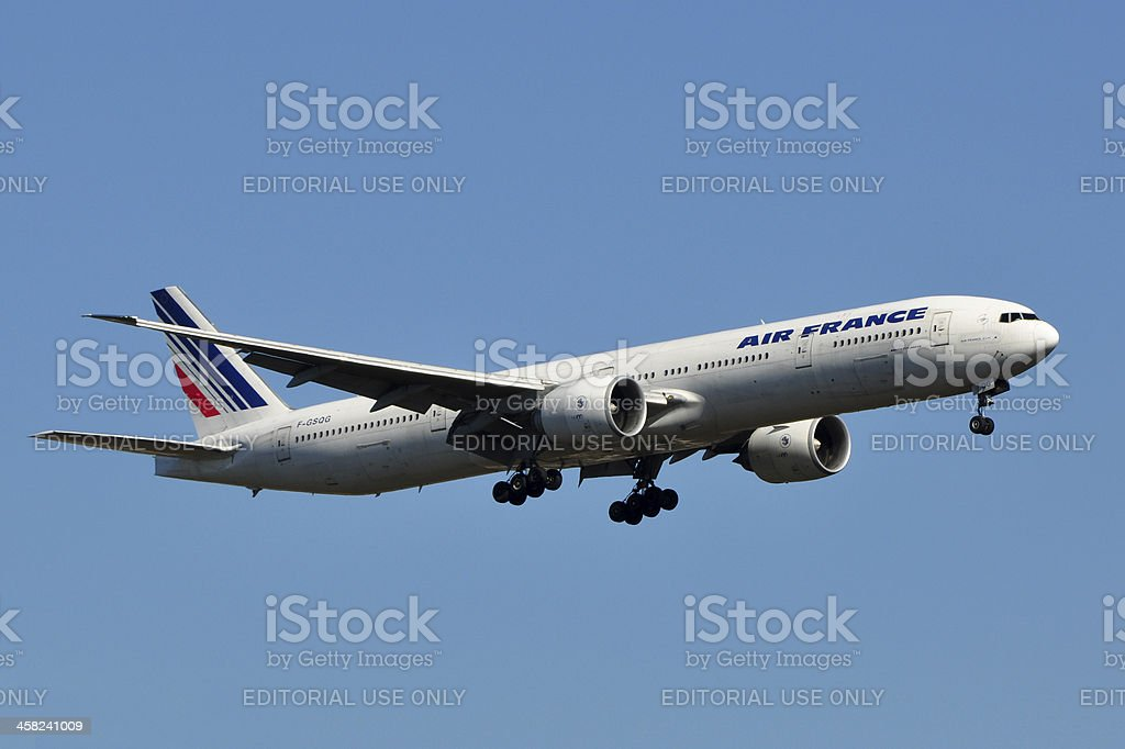 Air France Boeing 777 stock photo