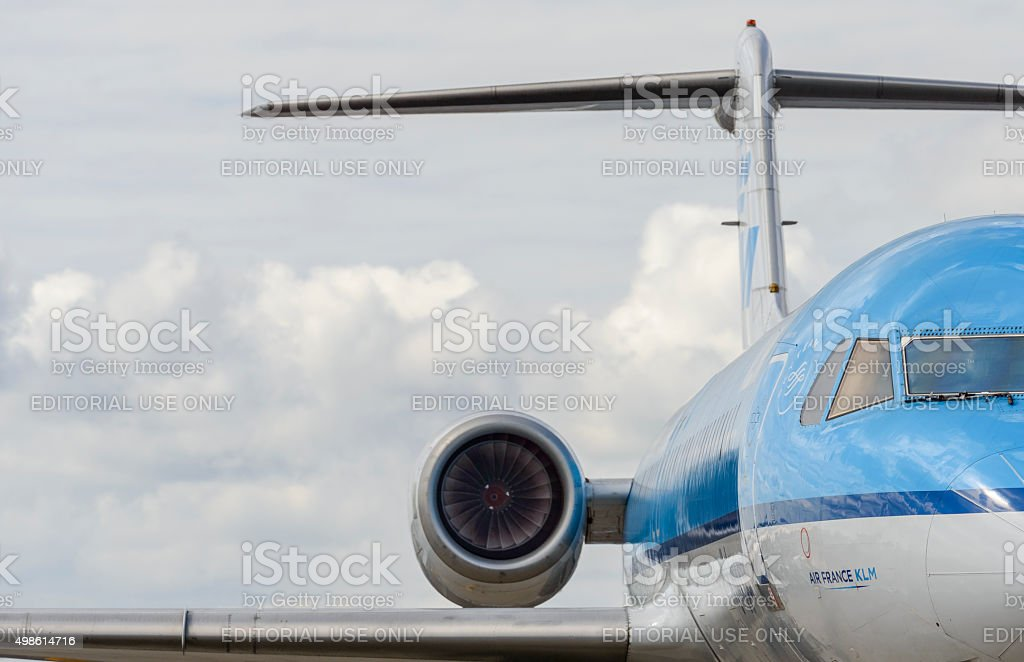 Air France KLM airplane close up stock photo