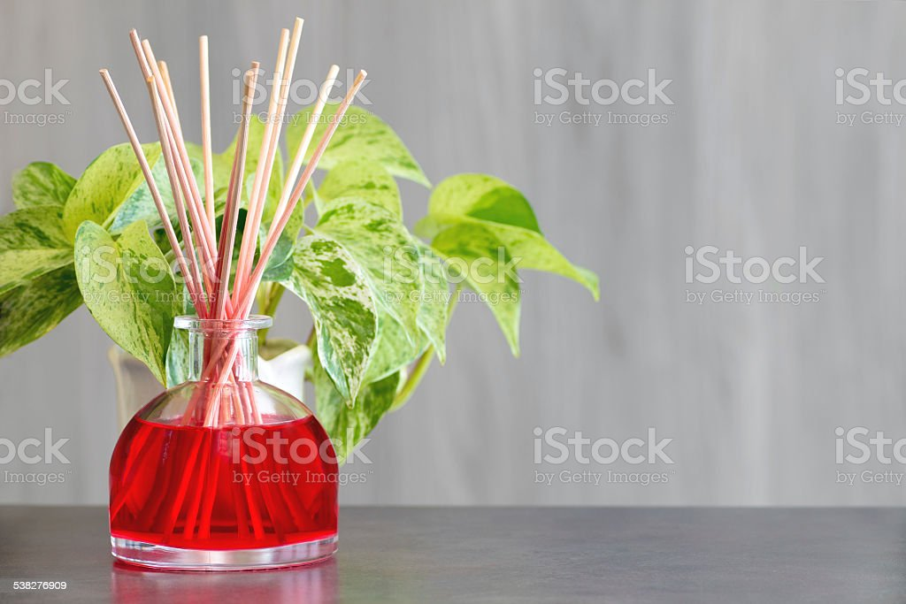 Air freshener perfume diffuser with copy space stock photo