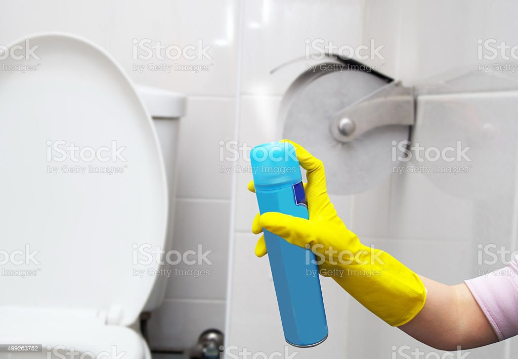 air freshner in hand stock photo