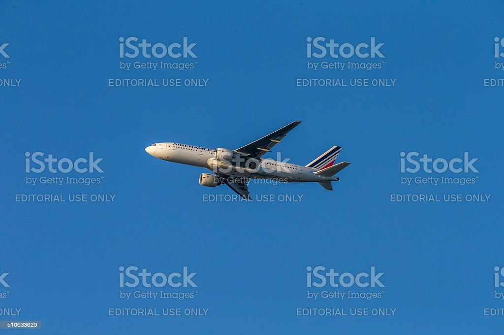 Air Frnace Airlines take off stock photo