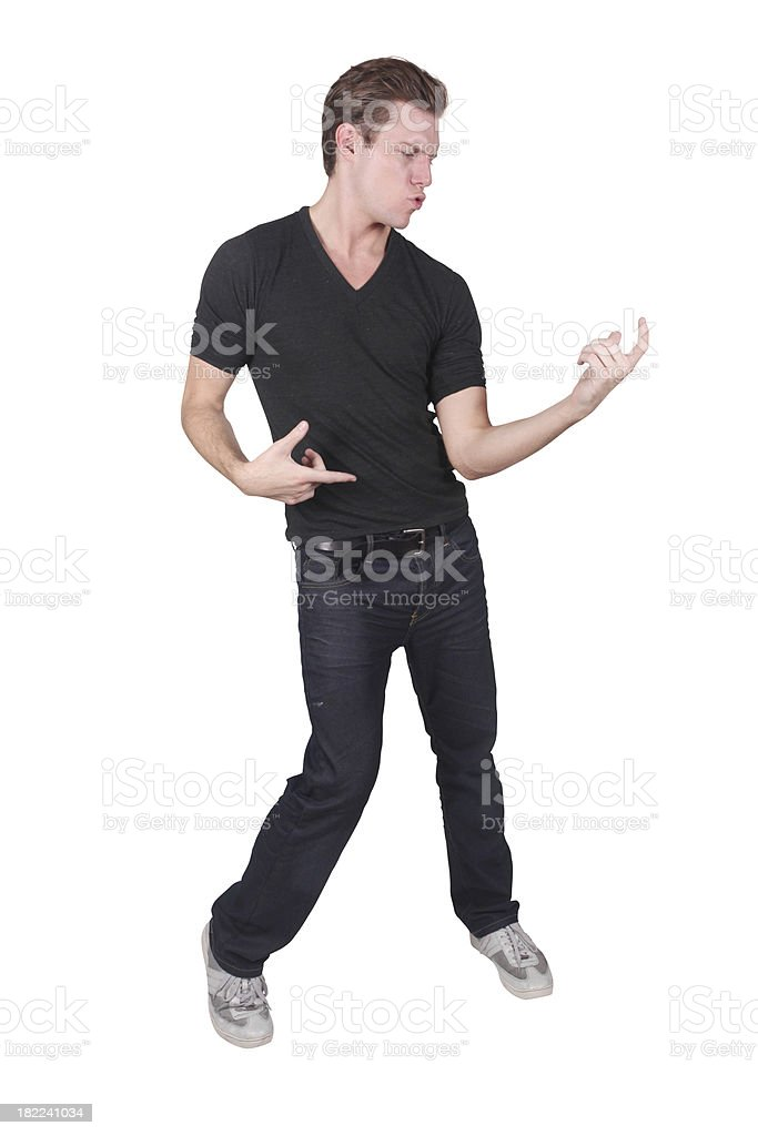 Air Guitar royalty-free stock photo