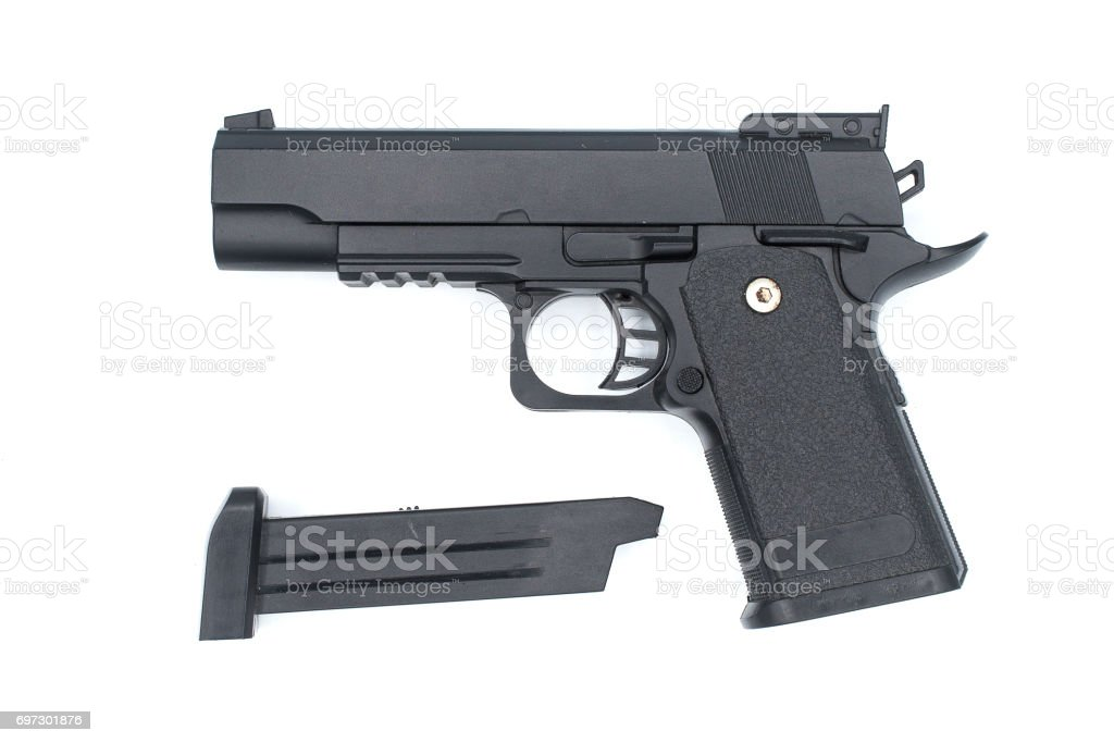 Air gun on isolated background. stock photo