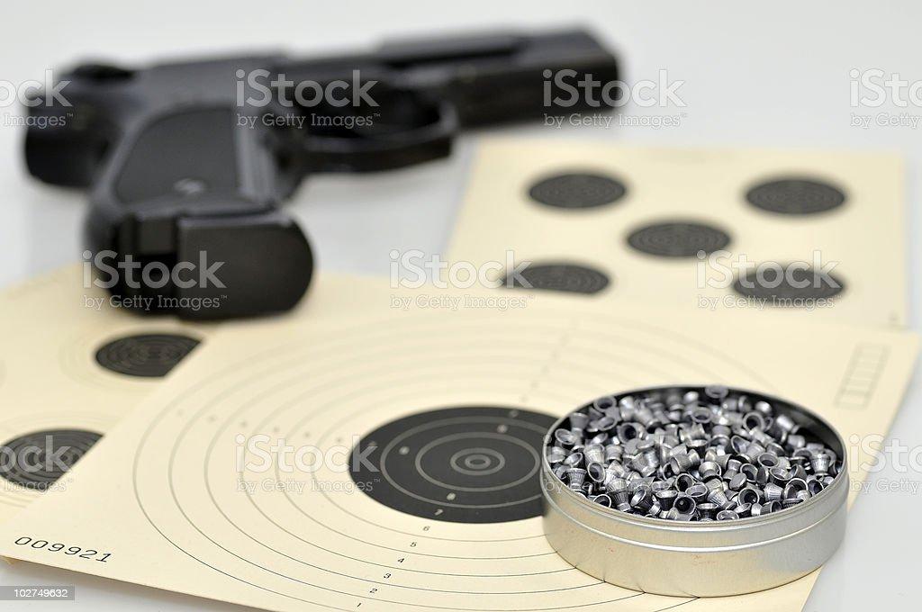 Air gun pellets stock photo