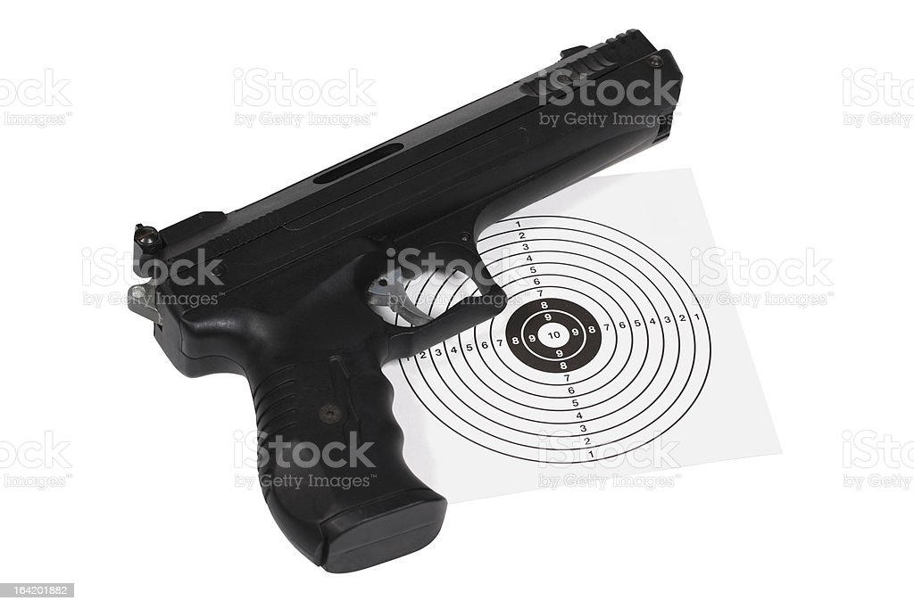 Air gun with gun-shield royalty-free stock photo