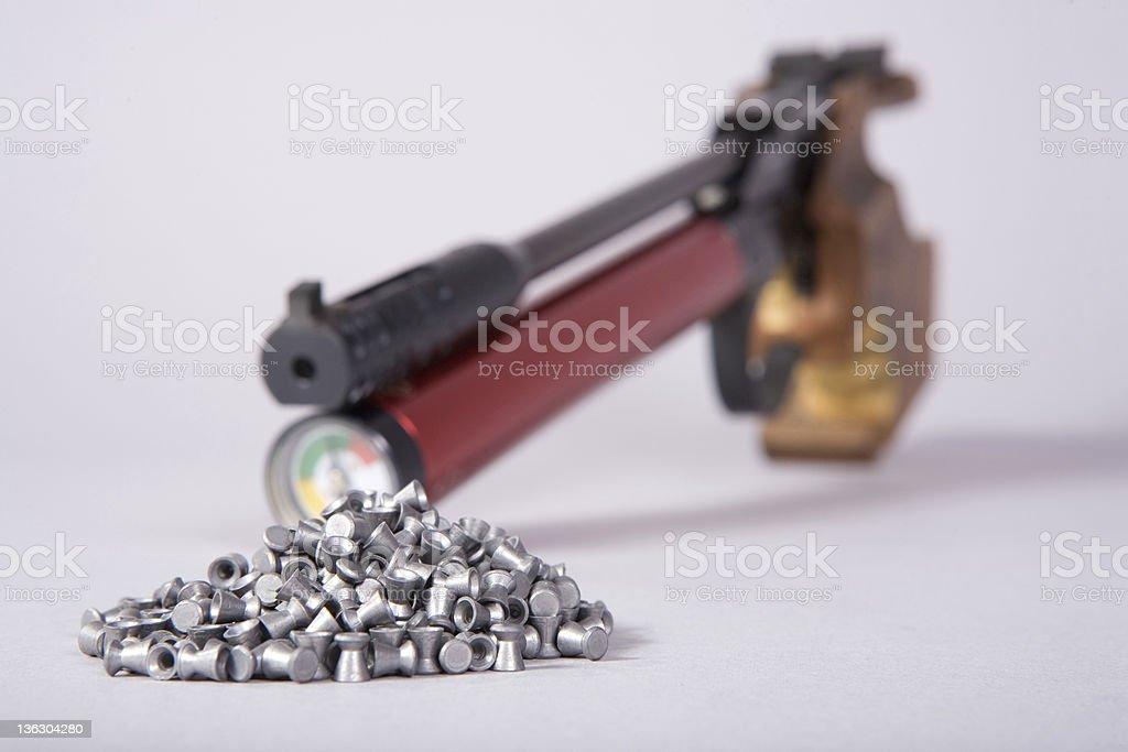 Air gun with pellets royalty-free stock photo
