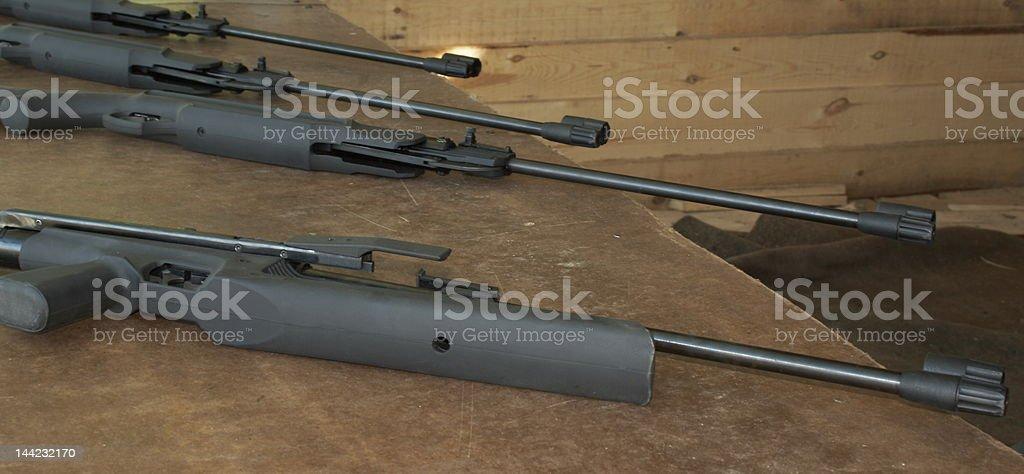air guns stock photo
