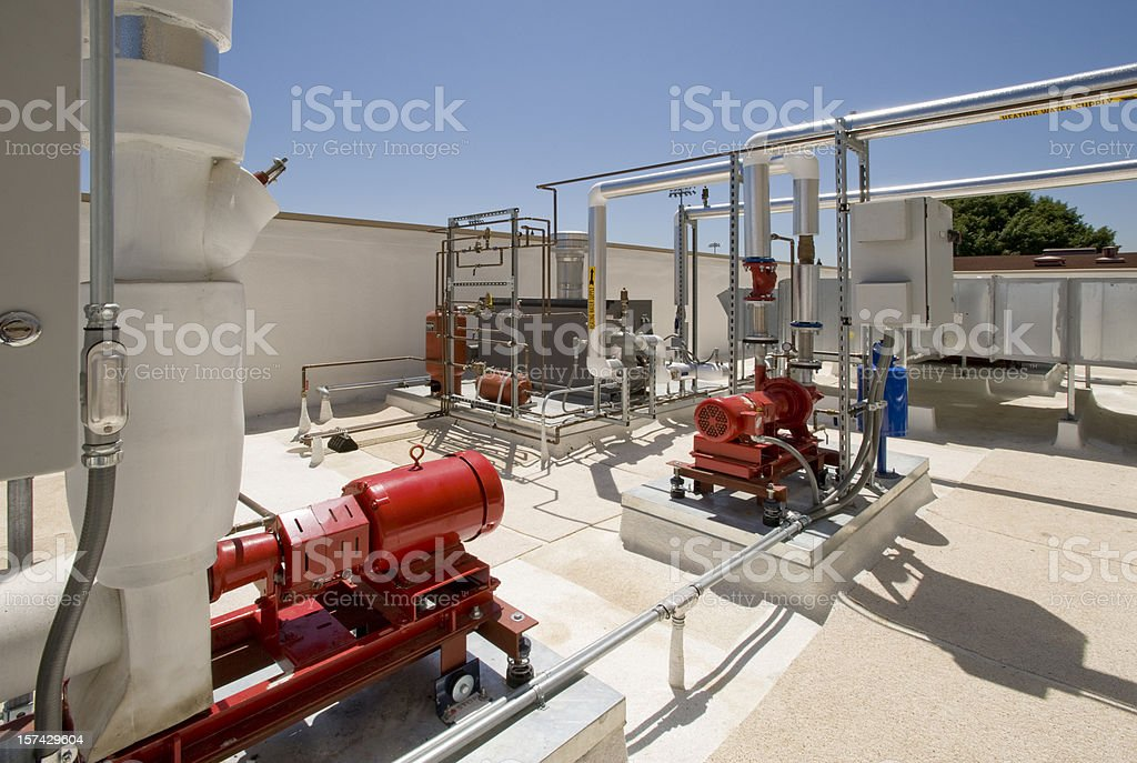 Air Handler and Furnace royalty-free stock photo