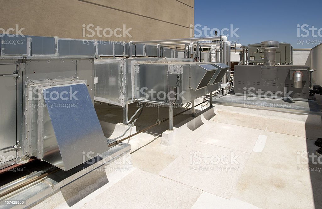 Air Handlers and Boiler Installation. royalty-free stock photo