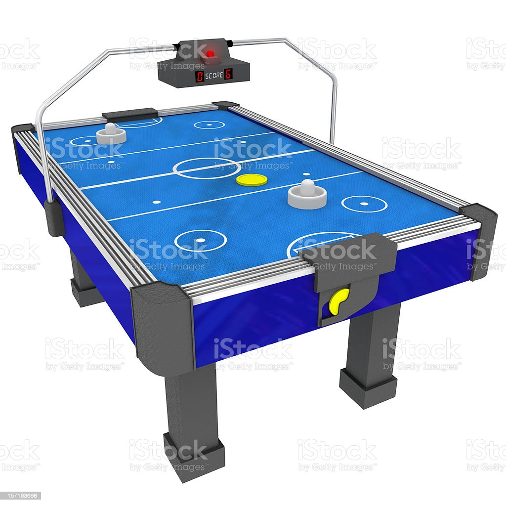 Air Hockey Table 3D (Isolated) royalty-free stock photo