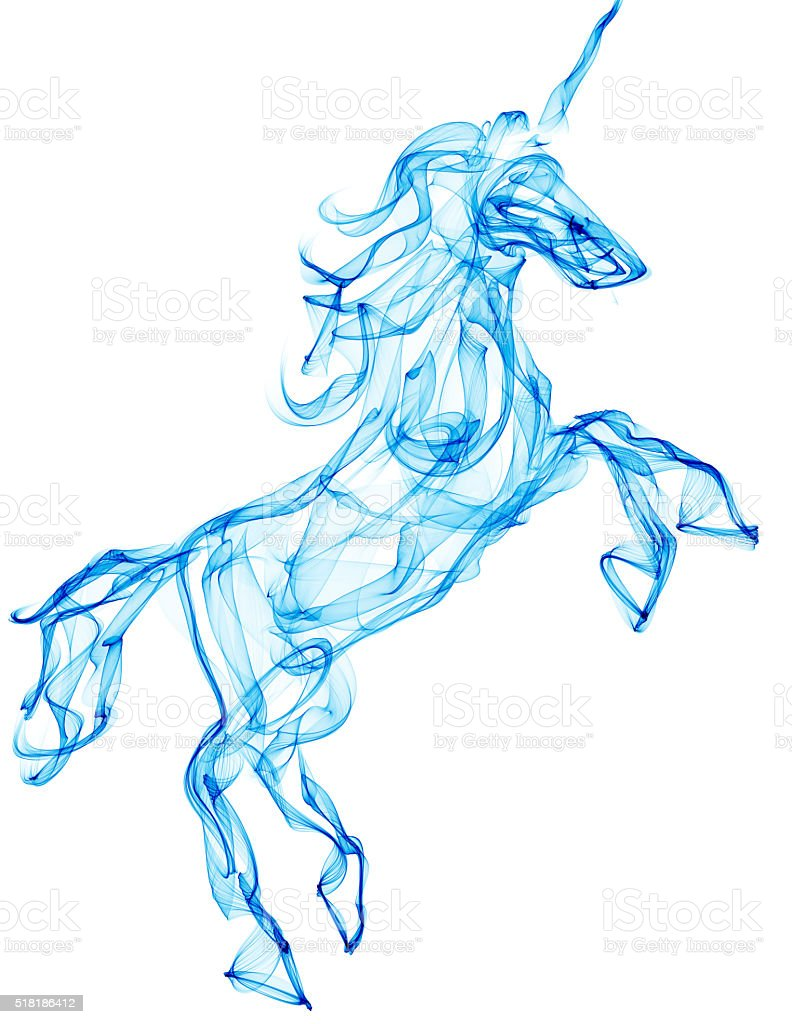 Air horse illustration stock photo
