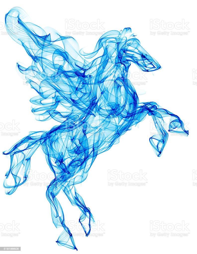 Air horse illustration stock photo
