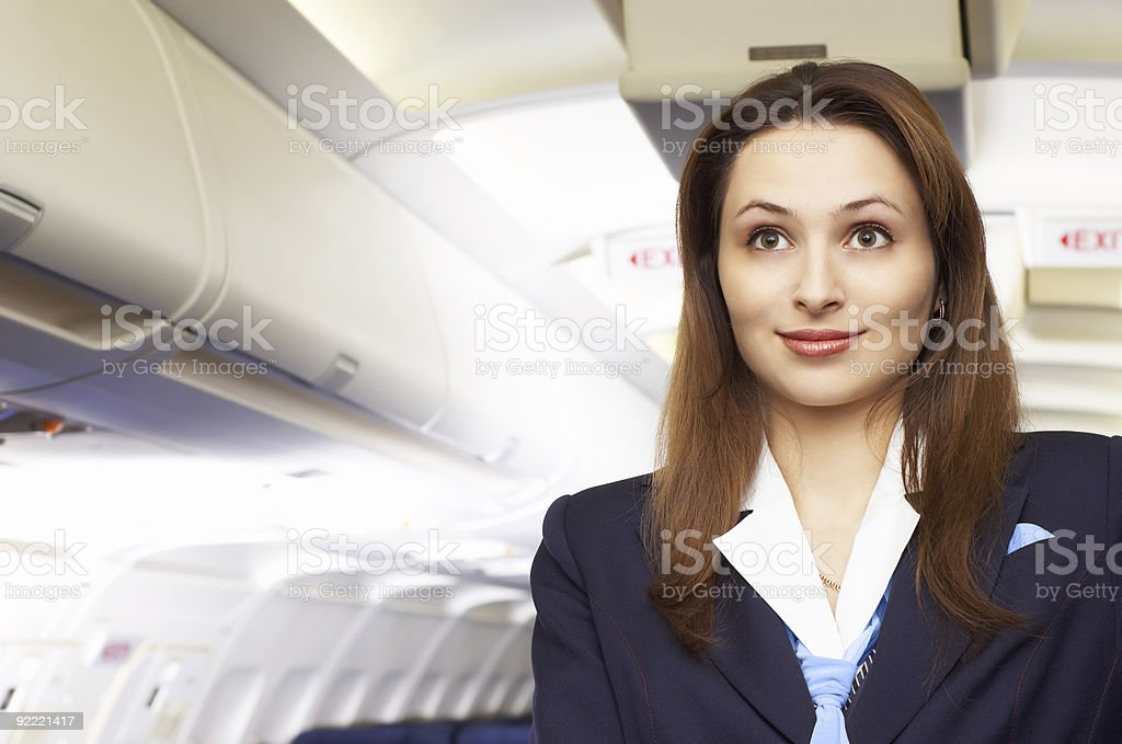 Air hostess (stewardess) royalty-free stock photo