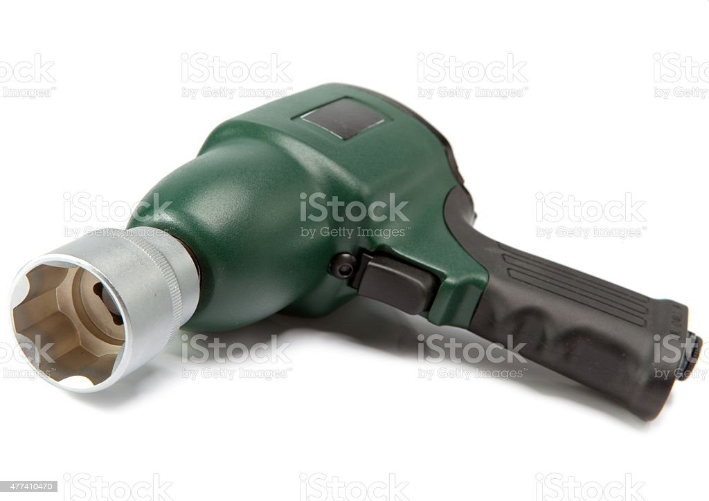air impact wrench on white background stock photo