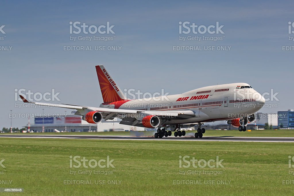 B747 AIr India stock photo