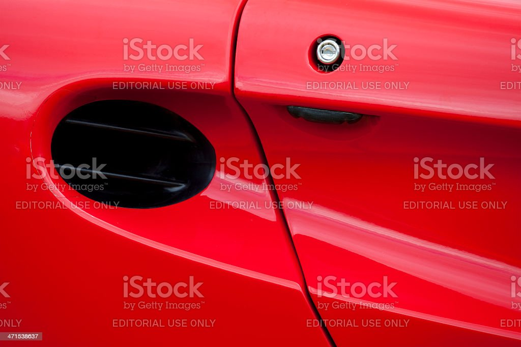 Air intake on Red Sports Car royalty-free stock photo