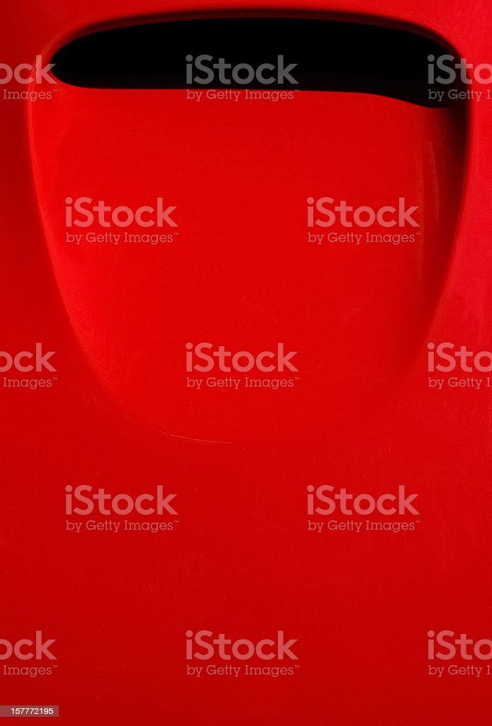 Air intake on the hood of red Italian sports car stock photo