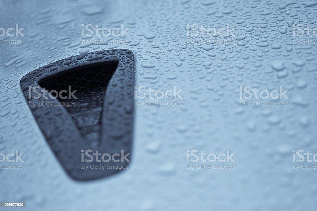 Air intake scoop stock photo