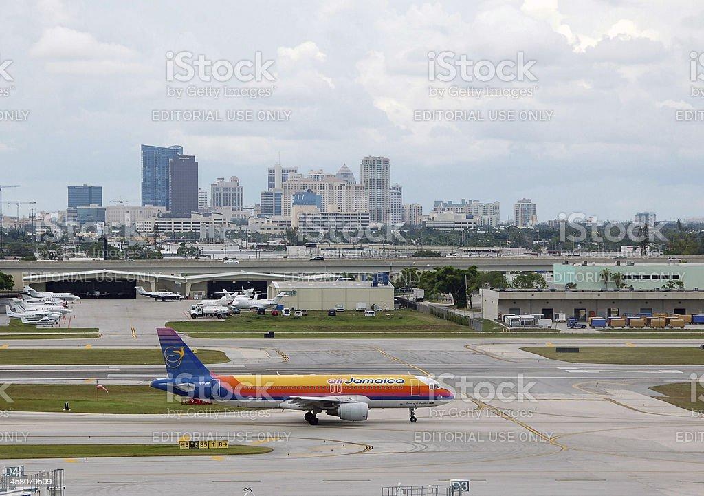 Air Jamaica passenger jet visiting Fort Lauderdale, Florida royalty-free stock photo