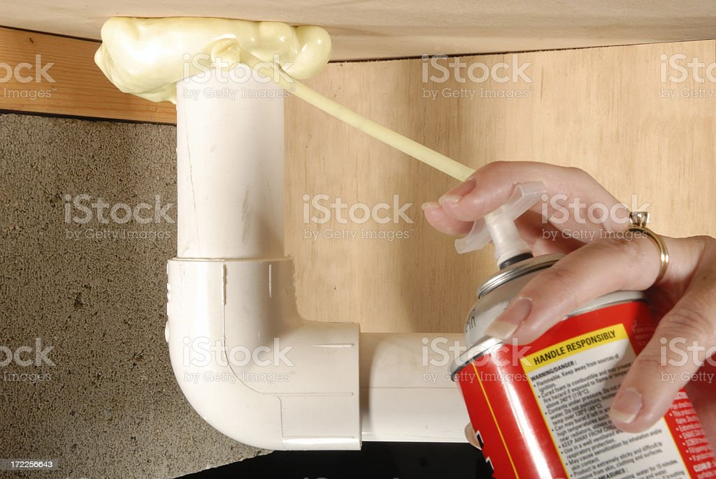 Air Leaks Sealed stock photo