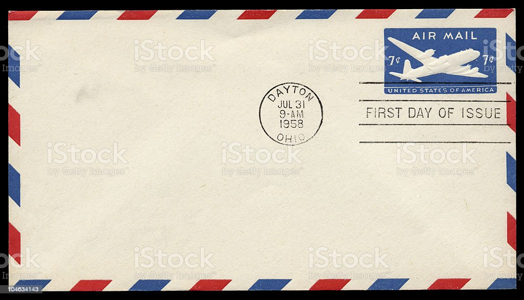 Air Mail Cover stock photo