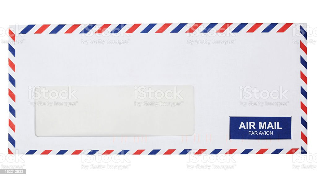 Air mail envelope royalty-free stock photo